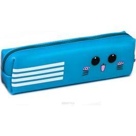 Calligrata Пенал школьный силиконовый Мордочка цвет голубой 2879311