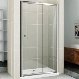 Душевая дверь в нишу Cezares Pratico BF-1 120 профиль Хром стекло прозрачное