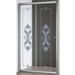 Душевая дверь Cezares Giubileo BF 120 профиль Хром стекло прозрачное с матовым принтом