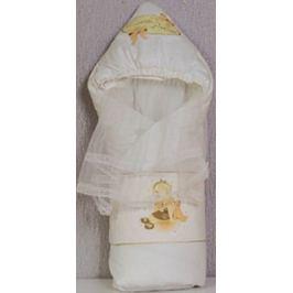 Одеяло-конверт Маргарита С капюшоном накидка из вуали весна-осень синтепон пл. 200 (шампань)