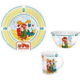 Набор посуды Гусь Хрустальный Три богатыря - Царевны КРС - 844