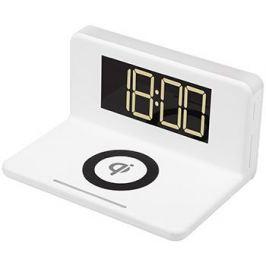 Часы с беспроводной зарядкой MAX M-010 белые