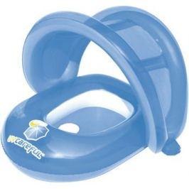 Круг надувной с сидением BestWay Лодочка с отверстиями для ног и тентом 34091 BW голубой