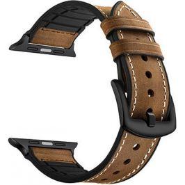 Комбинированный ремешок Lyambda кожа/силикон для Apple Watch 38/40 mm ANTARES LWA-10-40-BR Deep brown