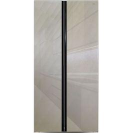Холодильник Side by Side Ginzzu NFK-462 золотистое стекло