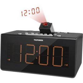 Радиочасы Telefunken TF-1542 (черный с оранжевым)