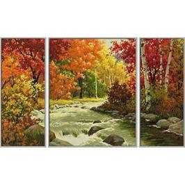 Картина триптих по номерам Schipper Осенний поток 9260779